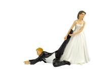 bride dragging groom