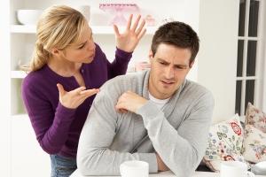 Woman blaming man