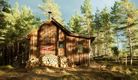 Woodman's Hut, Cairngorms National Park, Scottish Highlands